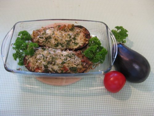 cheesy baked aubergine recipe
