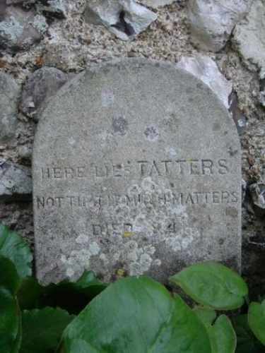 The pet cemetery is believed to be the only one in Sussex.  Four cats and 16 dogs are buried in the plot in the southwest corner of the gardens.