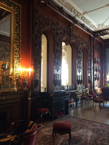 Inside the lavish Yusupov Palace, Petrograd (now re-named St Petersburg), where Rasputin was lured one evening in December 1916, to be assassinated by his enemies 