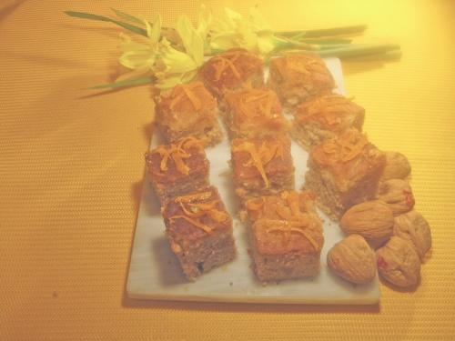 GREEK  EASTER  WALNUT  CAKE  recipe