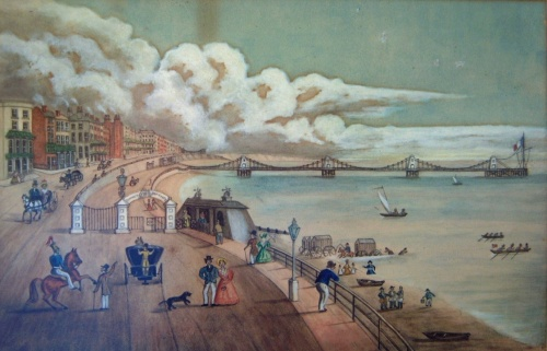 "The Times reported that ""to a man of pleasure and the valetudinarian [a person who is unduly anxious about their health] it offers a marine promenade unequalled"".  Image reproduced courtesy of The Royal Pavilion and Museums, Brighton & Hove."