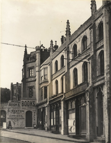 The view of Wykham Terrace looking North,  G. Sexton's book shop visible.