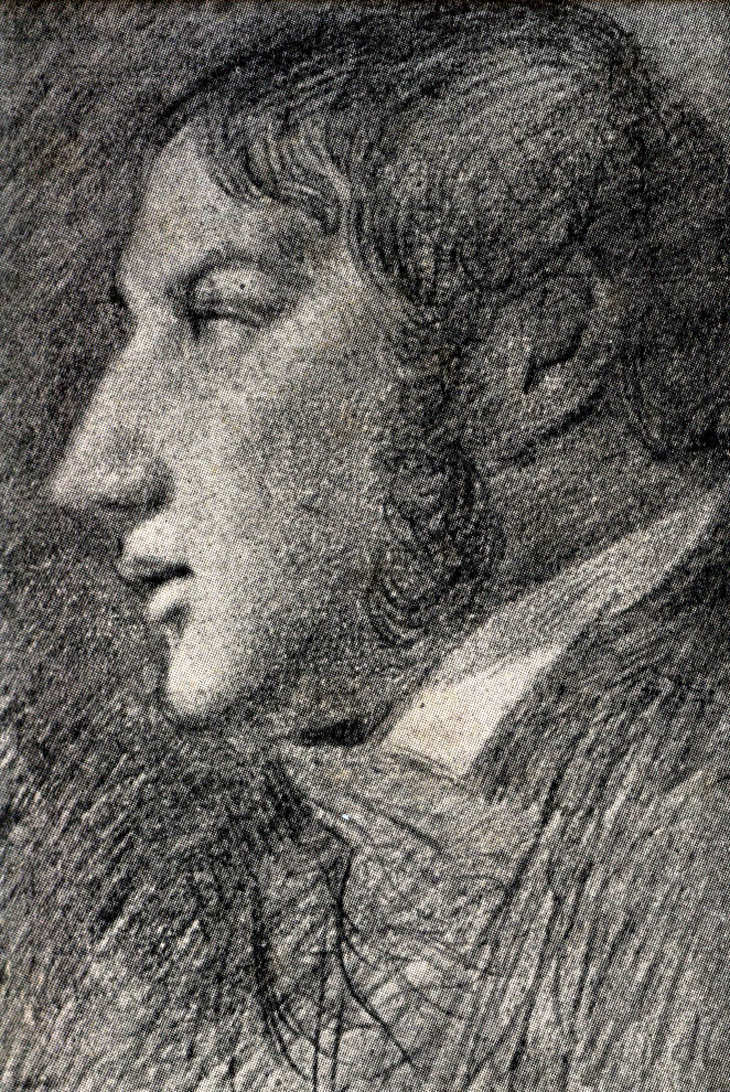 John Constable, Self-portrait 1806, pencil on paper, Tate Gallery London. His only indisputable self-portrait, drawn by an arrangement of mirrors.