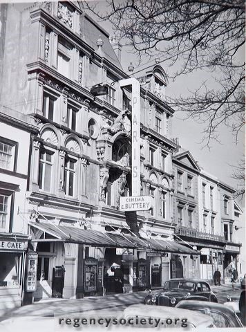 Photograph courtesy of the Regency Society.  The Paris Cinema. Built in 1893 as a theatre.