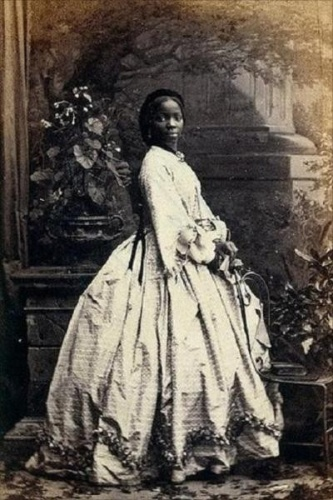 Sarah Forbes Bonetta. This photo is one of several taken by portrait photographer Camille Silvy to mark Sarah's wedding in 1862