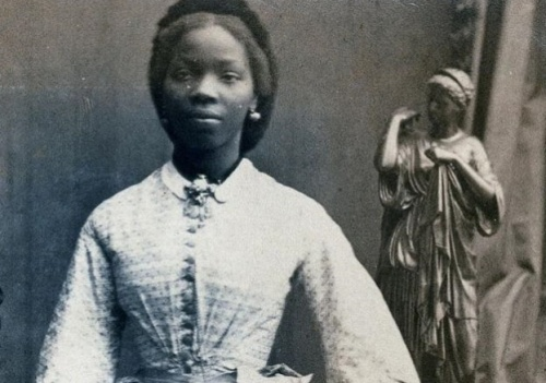 Sarah Forbes Bonetta. African princess and Queen Victoria's goddaughter. Portrait photograph by Camille Silvy, 1862