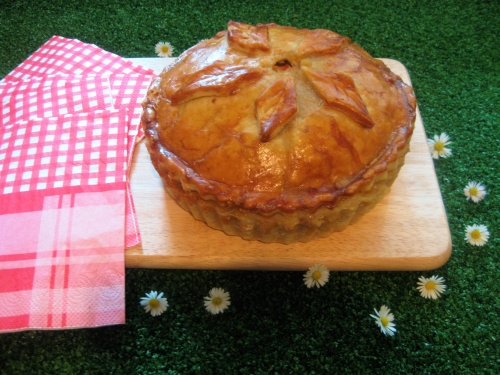 SAUSAGE AND LEEK PIE recipe