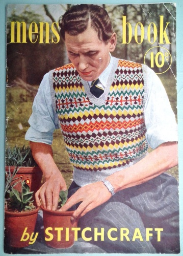 From about the 1930s it was common for men to wear a knitted sleeveless jersey or waistcoat over their shirt, the pattern often loosely based on the Fair Isle design.