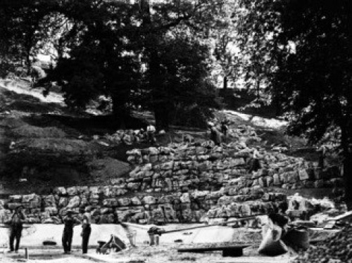 Image courtesy Brighton and Hove City Council.  Construction of the rock garden, the brainchild of Captain B H MacLaren,